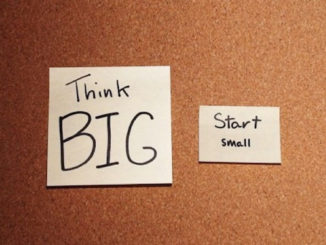 Start small, think big on post it notes