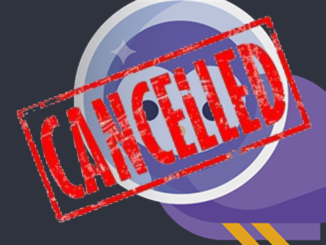 Blab logo with cancelled stamp